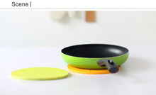 kitchen gargets table accessories anti-slip silicone placemat/pot pad