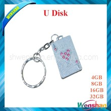 Wholesale Free sample High speed poker shape usb flash drive for Promotional gifts