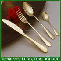Home designs stainless steel gold plate flatware