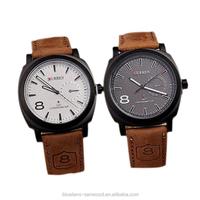 Unisex Men's Stylish Quartz Analog Leather CURREN Wrist Watch