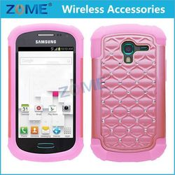 slip-proof phone case FOR SAMSUNG T599 cheap full body mobile phone Case with Diamonds
