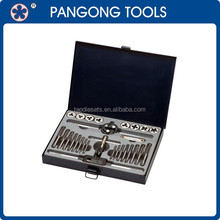 28PCS HSS Hand Hardware Tools Tap and Die Set
