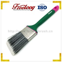 Hot sale professtional angled paint brush with long rubber handle