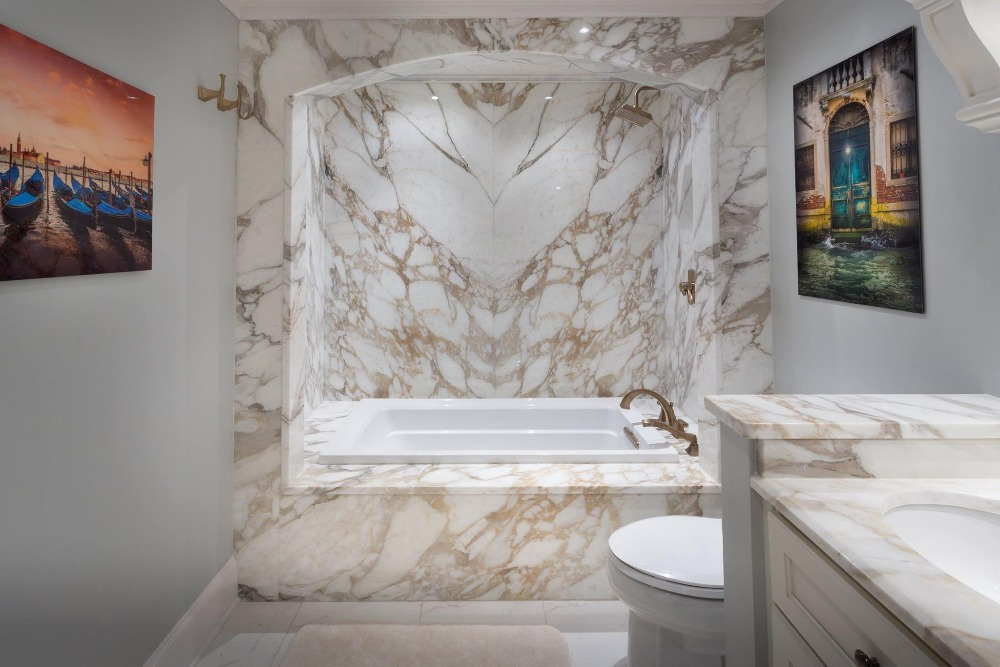 Italy Sovicille Calacatta Gold Marble Slab For Counter Top And - Marble slab bathroom