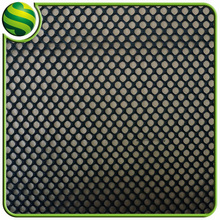 Black soft mesh fabric mesh football jersey fabric big hole mesh fabric