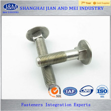 DIN608 M20 Carbon Steel Zinc Plated Carriage Bolt
