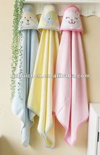 mom and bab 2012 Autumn baby clothes 100% cotton embroider hooded towel