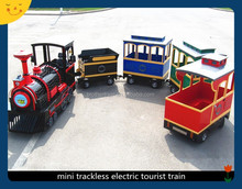 Imitating antique mini trackless electric trains for kids
