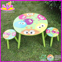 Hot new product for 2015 wooden table chair,Cute children dining table chair set toys,wholesale kids table and chair W08G039-A1