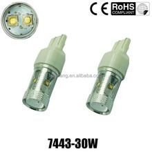 high brightness car led lighting 30w C REE LED,car led lights t20 w21/5w 7443