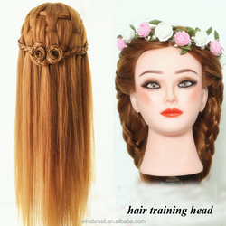 2015 Newest Female Hairdresser training head mannequin doll head with hair