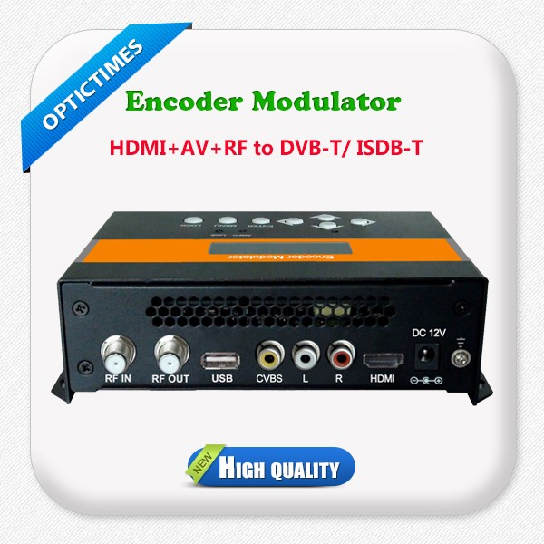 MPEG4 1080p video encoding hdmi to isdb-t rf catv rf modulator