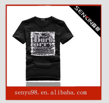 100% combed cotton t shirts baseball t shirt maker t shirt retail display