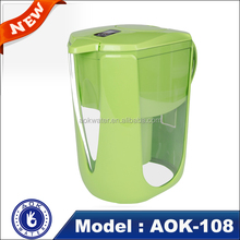 Factory promotion low negative ORP AOK-108 portable alkaline water filter pitcher
