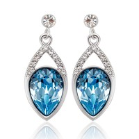 Earring Factory China,High Quality Big Crystal Ladies 925 Silver Earring