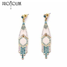extralong tassles alloy dangle earring studs chandelier drop earrings