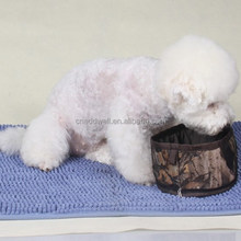 Camouflage portable foldable pet dog water bowl for travelling