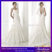 últimas sirena diseño encaje apliques con desmontable vestidos de novia velo país estilo( wd028)