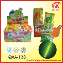 10g Russia Thumb Shape Glow Stick Lollipop Candy