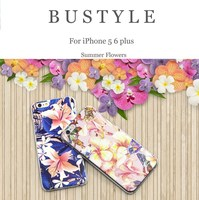 2015 Summer flowers 3D mobile phone cover for iPhone 5 6 plus with high quality phone shell case
