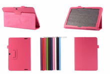Colorful leather case with card slot flip case for Acer A1-713