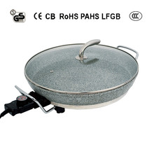multi-function electric pizza maker / pizza pan with stone coating