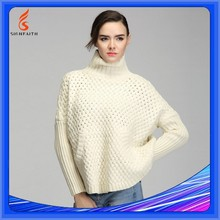 White Black Wool High Neck Blank Sweater Designs For Women