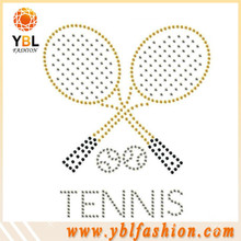 Tennis iron on gymnastics rhinestone transfers