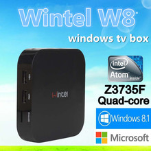 Wintel W8 Window tv box Support USB Wire/ WiFi 2.4G Wireless Keyboard Wintel smart tv box