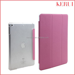 2015 China hot selling various colors available wholesale custom leather case for ipad