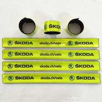 Wholesale Promotional reflective plastic armband/wrist band/slap band