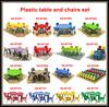 China wholesale school supplies nursery school equipment plastic kids table and chairs nursery school furniture