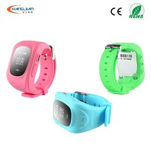 Fashion Type real time gps tracker watch phone with SOS for kids