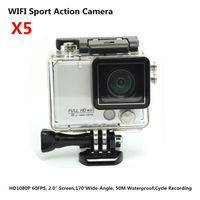 """HD1080P/60FPS/50M Waterproof WIFI Sport Action Camcorder FPV Camera_2.0""""Screen+Night Version+Cycle Recording+Diving Mode"""