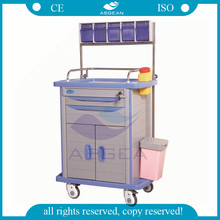 AG-AT001A3 CE ISO plastic material hospital ABS Anaesthesia trolley price