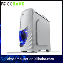 New design full tower atx gaming computer case with crystal side panel pc system unit