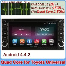 Factory Price car dvd player for toyota old corolla camry rav4 Quad Core Andriod 4.4 Cortex A9 1.6GHz Built-in Wifi