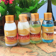 Wholesale high quality bottle 5 stars golden cap hotel shampoo and conditioner