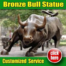 Professional bronze bull chicago with Customized Service