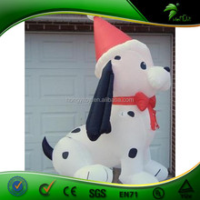 Unique Design Inflatable Christmas Dog for decorations/outdoor christmas decorations dog
