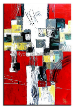 famous abstract fabric handmade painting red designs oil Painting 53999 for living room