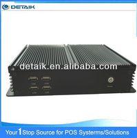 DBOX2800 Good Quality New Industrial Fanless Mini PC with Intel D2800 CPU