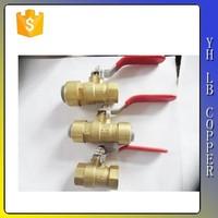 3/8 Inch - Mini Nickel Plated Brass Ball Valve - Female / Male NPT - Lead Free