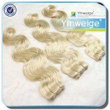 brazilian synthetic curly body wave 613 blonde hair weave
