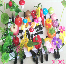 Latest design Lovely Cute Funny Artficial Plant Hair Pin Wholesale Bean Sprout Hairpins