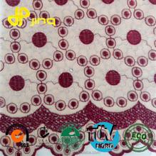 Metallic Cinnabar Motifs Row Silk Ground Two Tone Embroidery guipure lace Fabric