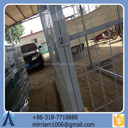 Large outdoor folding new fashionable high quality wrought iron galvanized beautiful dog cages/kennels/pet houses