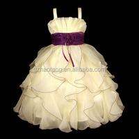 NEW Flower Girl Wedding Pageant Party Dress Wears Sets Beige/Purple tulle flower girl dress pattern flower girl dress 2014