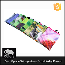 Microfiber sport exercise gift brand printed fitness golf towel