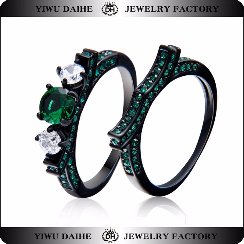 wholesale daihe western wedding ring sets with cubic